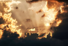 Spectacular Sunset and Clouds Stock Photography