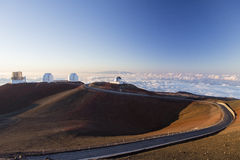 Spectacular sunset from mauna kea - hawaii Stock Photos