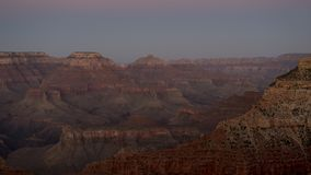 Spectacular sunset observed at one of the vantage points at the Grand Canyon National Park. Horizontal shot of landscape of American national monument and park Stock Image