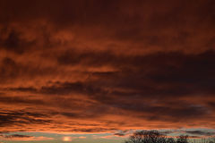 Spectacular sunset over Burnley Lancashire in Northern England Royalty Free Stock Image