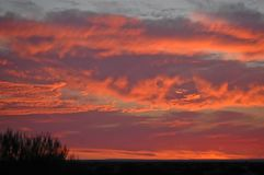 Spectacular Sunset over Cuddingwarra hills.. stock photos