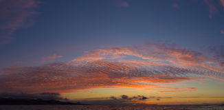 Spectacular sunset over Las Canteras Royalty Free Stock Images