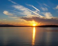 Patricia Bay sunset. Spectacular sunset at the Patricia Bay in Sidney, Vancouver Island, British Columbia stock photos
