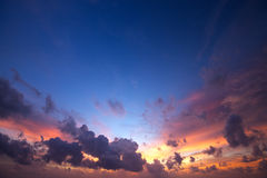 Spectacular sunset sky Royalty Free Stock Photo