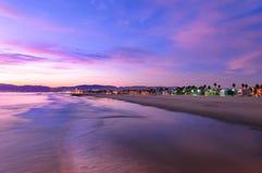 Spectacular Sunset at Venice Beach. California stock photo