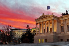 Spectacular sunset in Vienna Stock Photos