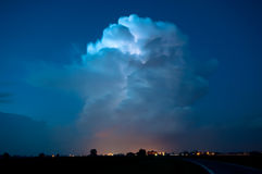 Spectacular super cell thunderstorm from Italy Royalty Free Stock Image