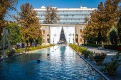 Takht e Marmar building at the Golestan Palace. Tehran, Iran. stock image