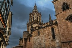 The tower of the cathedral royalty free stock image