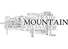 A Spectacular Trail Find On The Swan Range Of Montana A Trek To The Summitword Cloud. A SPECTACULAR TRAIL FIND ON THE SWAN RANGE OF MONTANA A TREK TO THE SUMMIT Stock Images