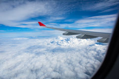 Spectacular view from  an airplane's window Royalty Free Stock Photos