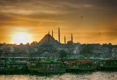 Spectacular view on Bosphorus stock image
