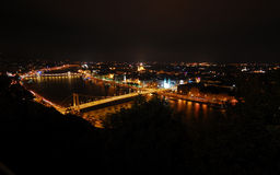 Spectacular view of Budapest at night Royalty Free Stock Photo