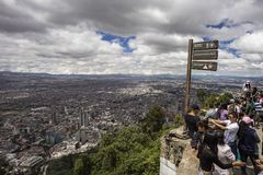 Bogota seen from the top of Monserrate Stock Image
