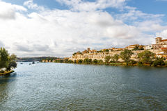 Spectacular view of the city of Zamora and the Duero River, Spai Royalty Free Stock Photos