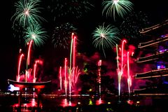 Spectacular view of Epcot Forever fireworks from Japan pavillion at Walt Disney World 1