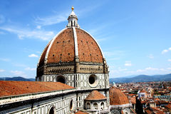 Spectacular view of famous marble cathedral Santa Maria del Fior Royalty Free Stock Photo