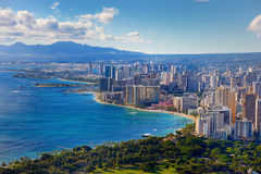Spectacular view of Honolulu city, Oahu Stock Photography