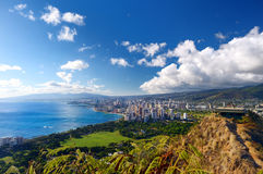 Spectacular view of Honolulu city, Oahu Royalty Free Stock Image