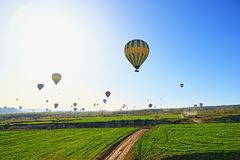 Hot air balloons flights Cappadocia Turkey Stock Photo