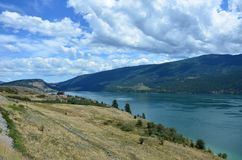 A spectacular view on the Kalamalka Lake. Kalamalka Lake is a large lake in the Interior Plateau of southern central British Columbia, Canada Stock Images