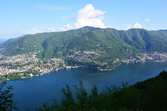 Spectacular view of Lake Como from the top of San Maurizio of Brunate, Como, Italy Royalty Free Stock Photos