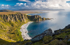 Spectacular View from Matind Mountain. Bleik, Andoya, Vesteralen royalty free stock images