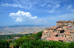 Spectacular view of the old town of Volterra in Tuscany, Italy Royalty Free Stock Photography