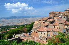 Spectacular view of the old town of Volterra in Tuscany, Italy. Spectacular view of the old town of Volterra in Tuscany in Italy stock photos