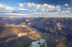 A spectacular view over the Grand canyon at sunset Royalty Free Stock Photography