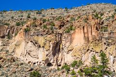 The Canyons in Bandelier National Monument, New Mexico stock photography