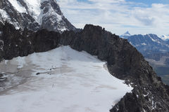 Spectacular view to Mount Blanc massif from 360 degree observati. Spectacular view to Mount Blanc massif Stock Photos