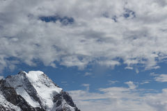 Spectacular view to Mount Blanc massif from 360 degree observati Royalty Free Stock Photography