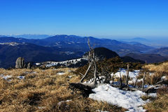Spectacular view from the top of the Ciucas mountains, Romania Royalty Free Stock Photography