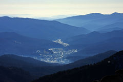 Spectacular view from the top of the Ciucas mountains, Romania Royalty Free Stock Image