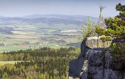 Spectacular view from top of Strzeliniec Wielki Peak, Poland Royalty Free Stock Images