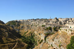 Spectacular view of typical stones of Matera Sassi di Matera UNESCO World Heritage Site and European Capital of Culture 2019, Ma Royalty Free Stock Photography