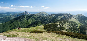 Spectacular view from Velky Krivan hill in Mala Fatra mountains in Slovakia royalty free stock photography