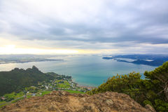 Spectacular view of Whangarei harbor from Mt Manaia, NZ. Spectacular view of Whangarei harbor from Mt Manaia, New Zealand stock image