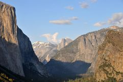 Spectacular View of Snow Capped Half Dome - Yosemite Valley royalty free stock photography