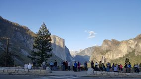 Yosemite Valley in all its glory. Spectacular view of Yosemite Valley from overlook in Yosemite National Park in California stock photography