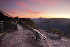 Spectacular views from Pulpit Rock Blackheath Blue Mountains Stock Photography