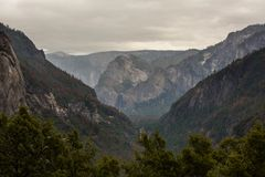 Spectacular views to the Yosemite waterfall in Yosemite National Stock Images