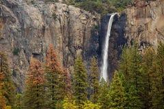 Spectacular views to the Yosemite waterfall in Yosemite National. Park, California, USA Stock Photo