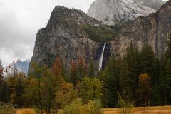 Spectacular views to the Yosemite waterfall in Yosemite National. Park, California, USA Stock Photography