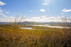Spectacular views of  valley taiga river Royalty Free Stock Photography