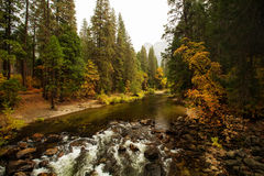 Spectacular views of the Yosemite National Park. In autumn, California, USA Stock Images