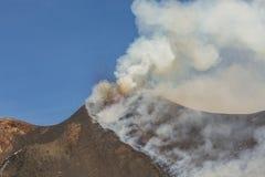Spectacular Volcano Etna eruption ,Sicily , Italy Royalty Free Stock Photo