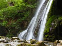 Spectacular waterfal during the spring Stock Images