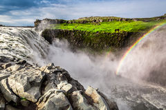 Spectacular waterfall Dettifoss, Iceland Royalty Free Stock Images